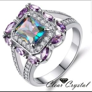 Multicolored CZ ring